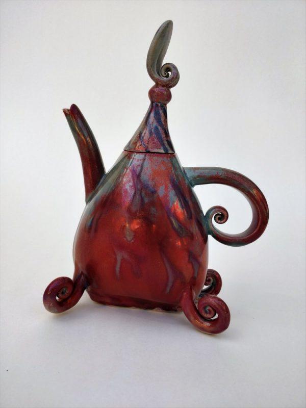 lustre fired teapot